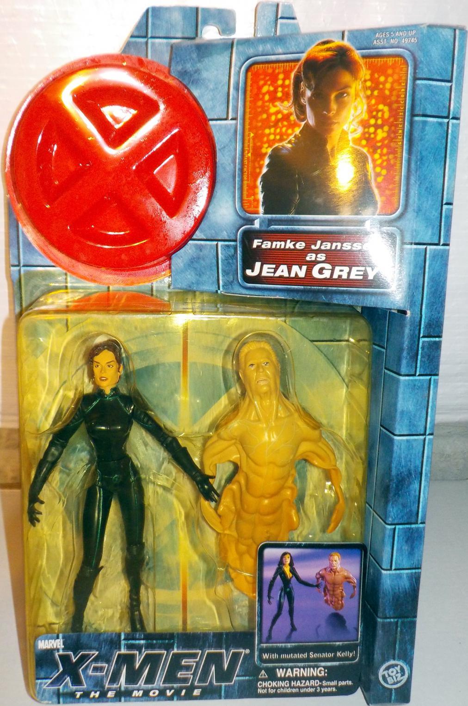Jean Grey Movie Zipped Up Costume Action Figure Toy Biz