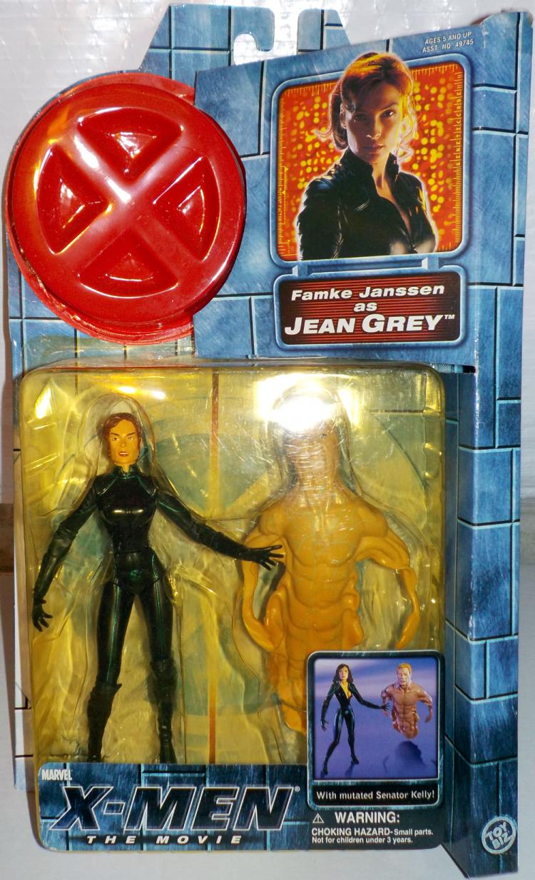 Jean Grey Movie Zipped Up Costume Action Figure Toy Biz