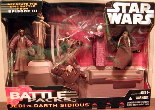 Jedi vs Darth Sidious Battle Packs Star Wars action figures