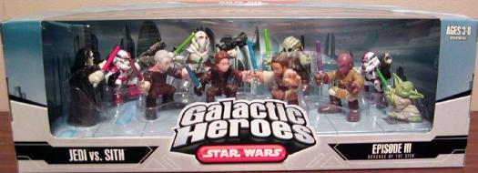 Jedi vs Sith 10-Pack Galactic Heroes