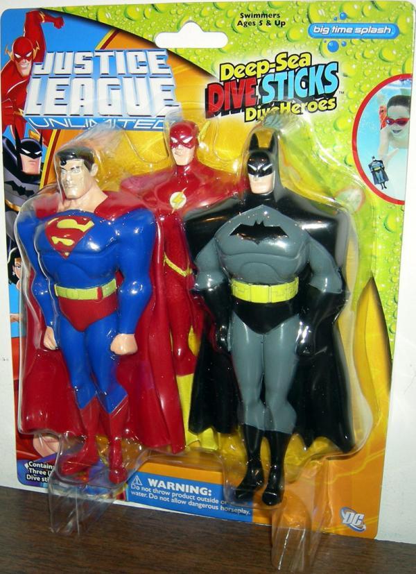 Justice League Unlimited Deep-Sea Dive Sticks DiveHeroes 3-Pack