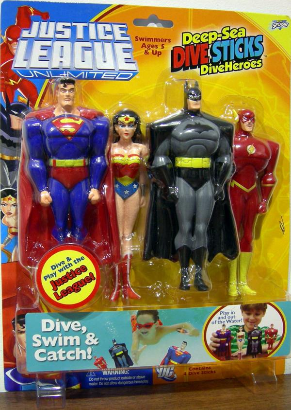 Justice League Unlimited Deep-Sea Dive Sticks DiveHeroes 4-Pack