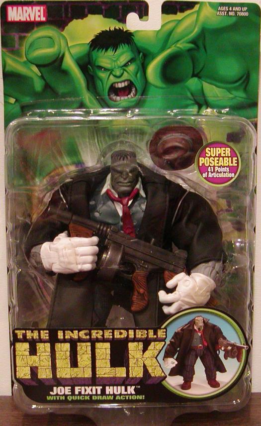 Joe Fixit Hulk Figure Quick Draw Action Hulk Toy Biz
