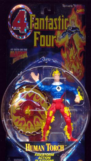 Johnny Storm Human Torch Fantastic 4 Four Animated action figure