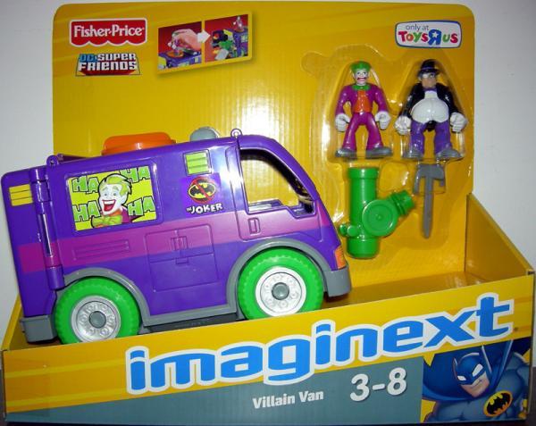 Villain Van Vehicle with Joker and Penguin Action Figures Imaginext Toys R Us Exclusive