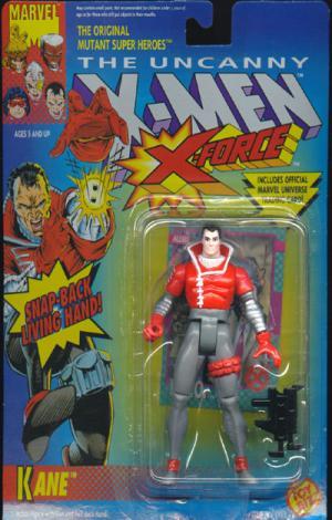 Kane Action Figure Snap-Back Living Hand X-Men Toy Biz