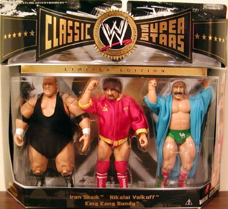 King Kong Bundy Nikolai Volkoff Iron Sheik Action Figures Jakks Pacific