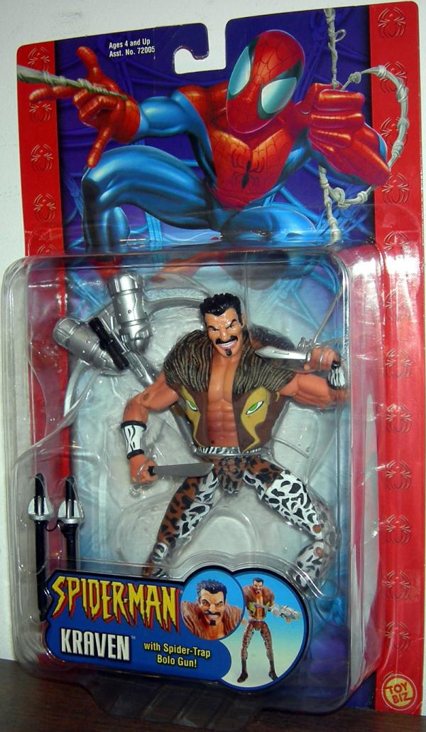 Kraven Figure Spider-Trap Bolo Gun Classic Spider-Man
