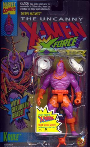 Krule Figure X-Men X-Force Shrunken Heads Toy Biz
