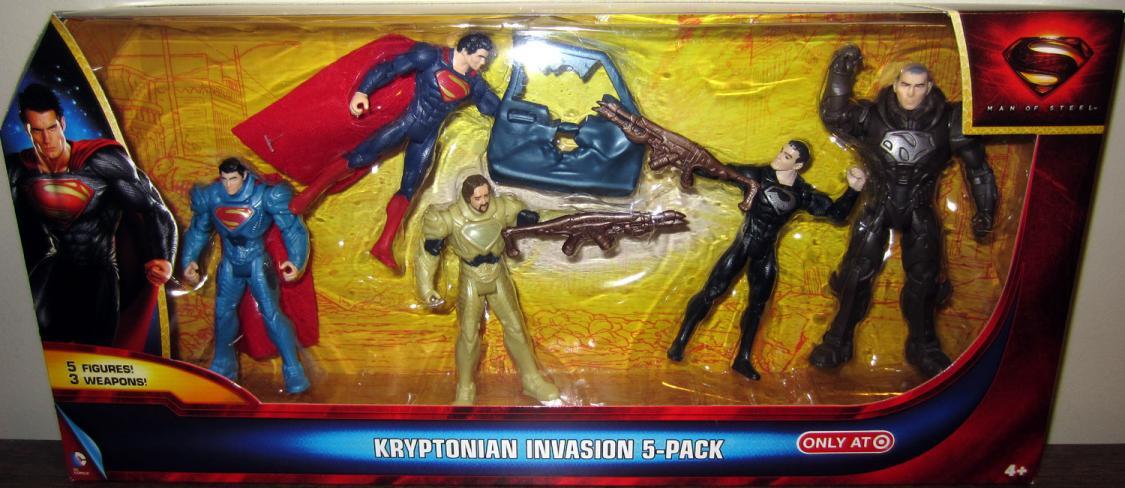 Kryptonian Invasion 5-Pack Superman Man Steel action figures