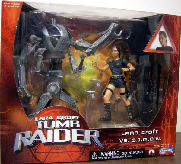 Lara Croft vs SIMON Tomb Raider Movie action figures