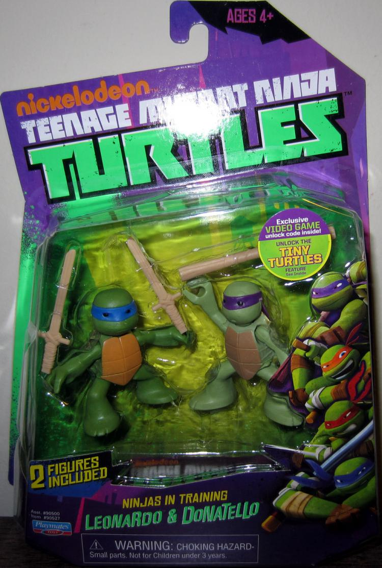 Leonardo Donatello Figures Nickelodeon Teenage Mutant Ninja Turtles