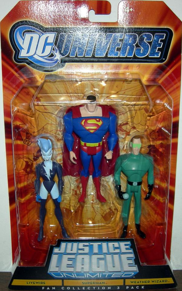 Livewire, Superman Weather Wizard Fan Collection 3 Pack