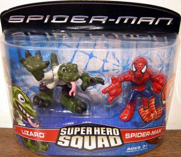 Lizard Spider-Man Super Hero Squad