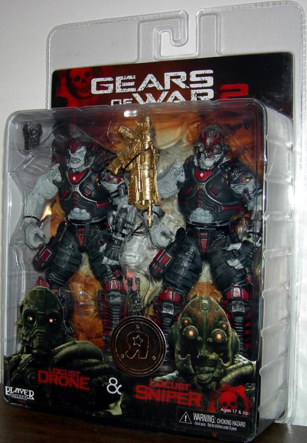 Locust Drone Sniper 2-Pack Gears War 2 action figures