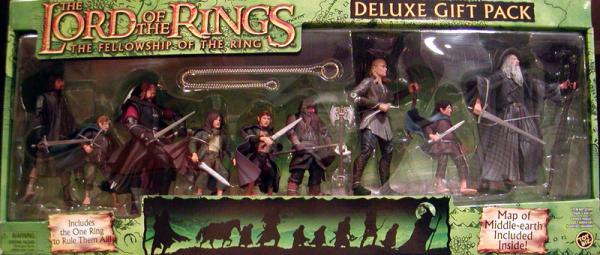 Lord Rings Deluxe 9-Pack FOTR, green box