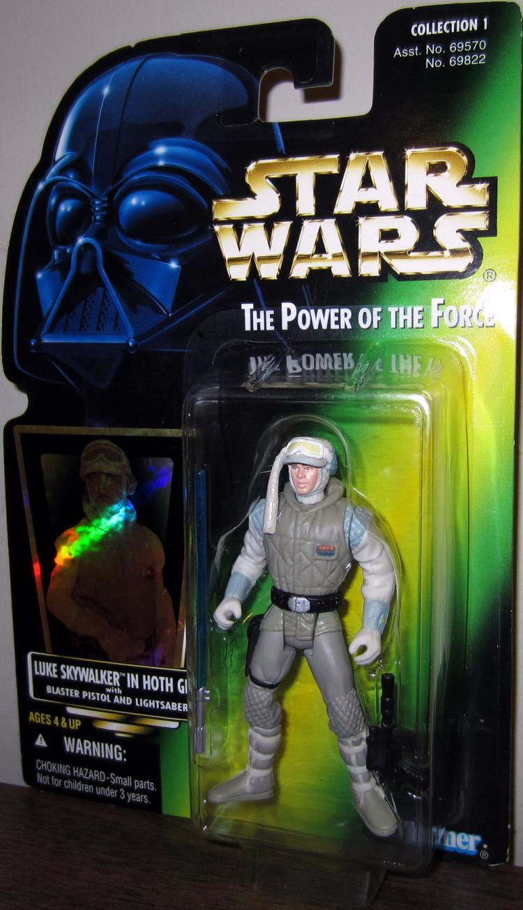 Luke Skywalker Hoth Gear Figure Green Card Star Wars