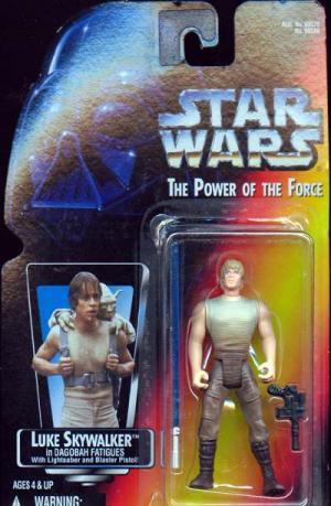 Luke Skywalker Dagobah Fatigues Action Figure Long Lightsaber Star Wars