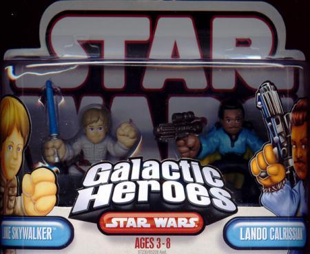 Luke Skywalker Lando Calrissian Galactic Heroes Star Wars
