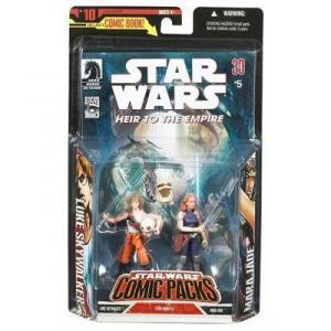 Luke Skywalker Mara Jade Comic Packs action figures