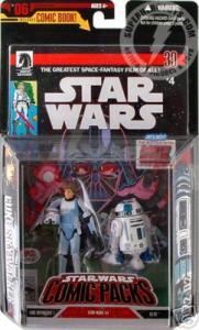 Luke Skywalker R2-D2 Comic Packs