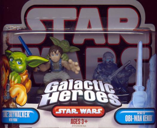 Luke Skywalker Yoda Spirit Obi-Wan Kenobi Galactic Heroes