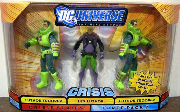 Lex Luthor Luthor Troopers Crisis Three Pack 7 Dark Hair