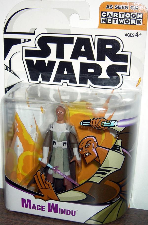 Mace Windu Cartoon Network Star Wars action figure