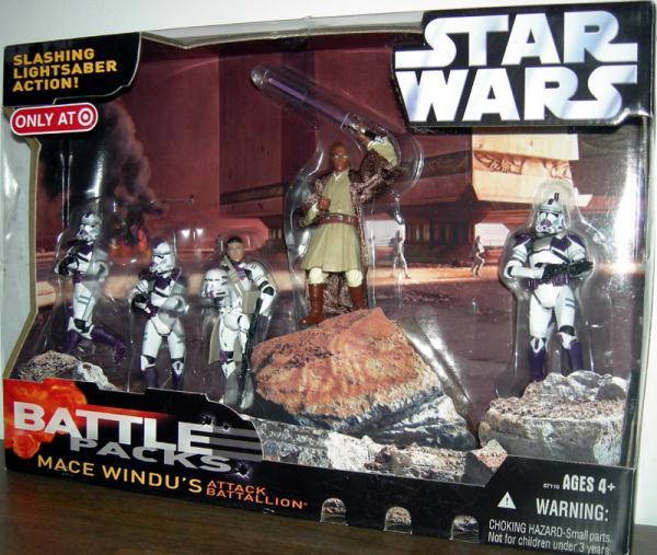 Mace Windus Attack Battallion Battle 5-Pack action figures
