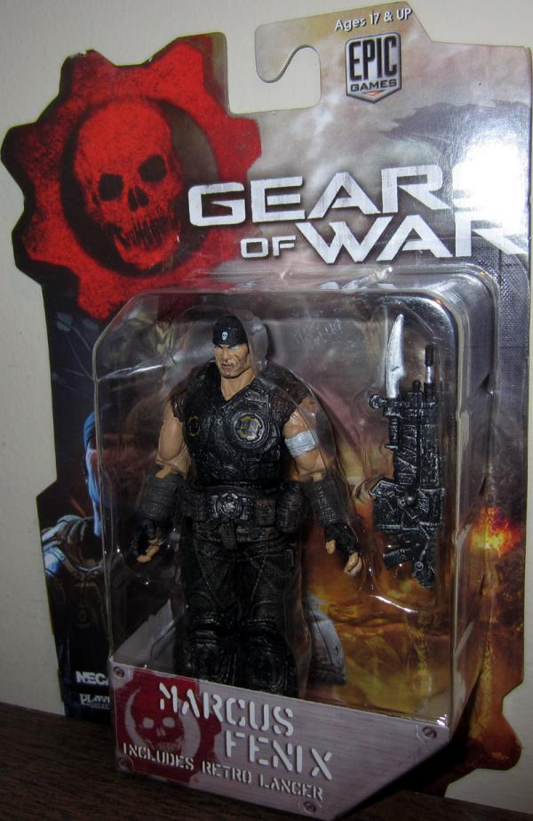 Marcus Fenix Gears War 3 small action figure