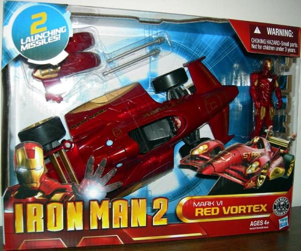 Mark VI Red Vortex Vehicle With Iron Man Action Figure 2 Launching Missiles