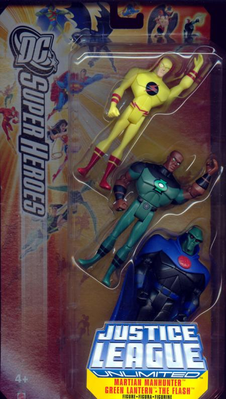 Martian Manhunter, Green Lantern Flash 3-Pack