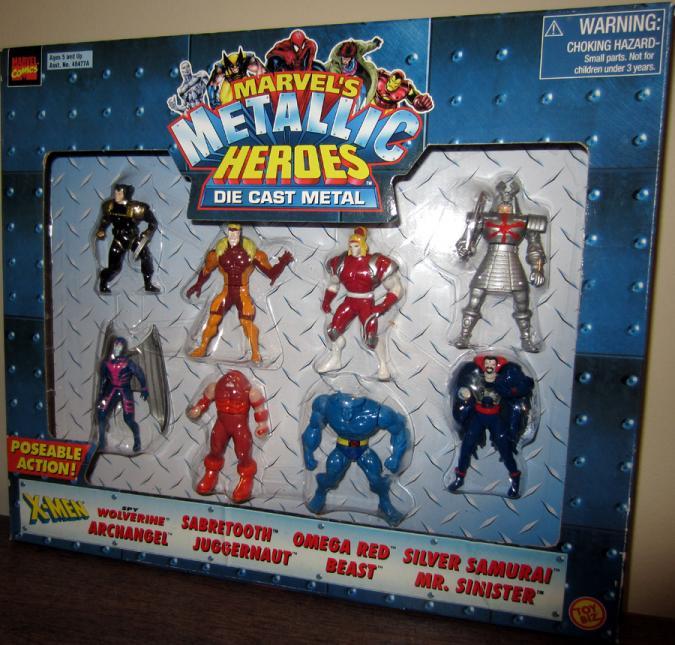 Marvels Metallic Heroes Die Cast Metal 8-Pack action figures