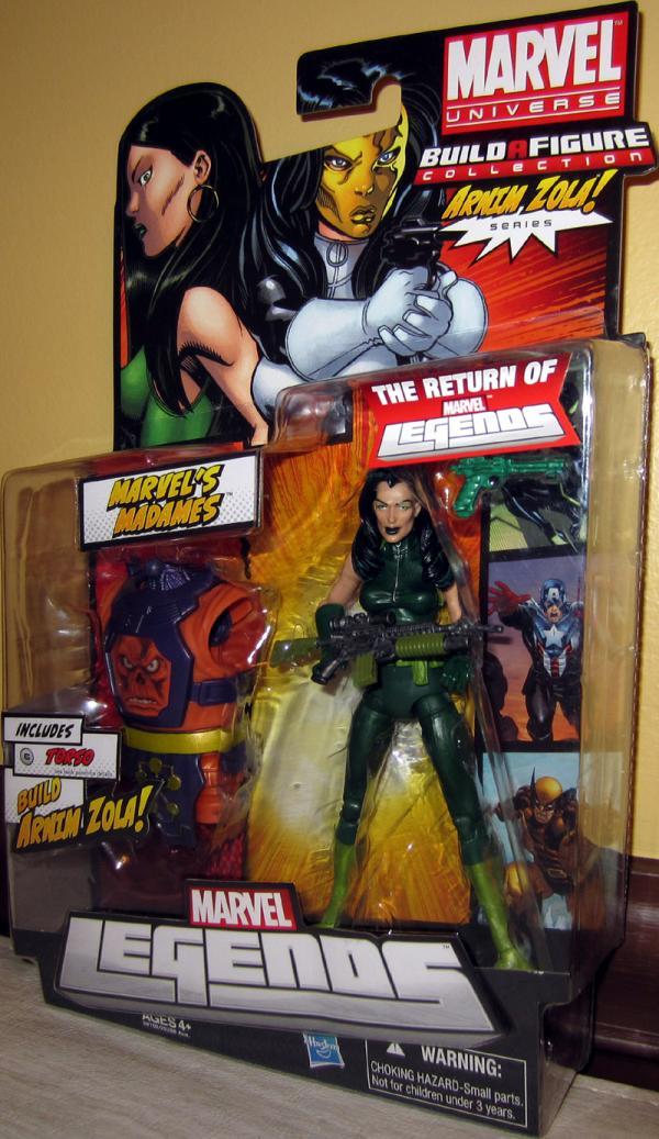 Marvels Madames green costume Marvel Legends, Arnim Zola Series