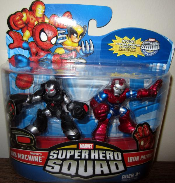 Marvels War Machine Iron Patriot Super Hero Squad action figures