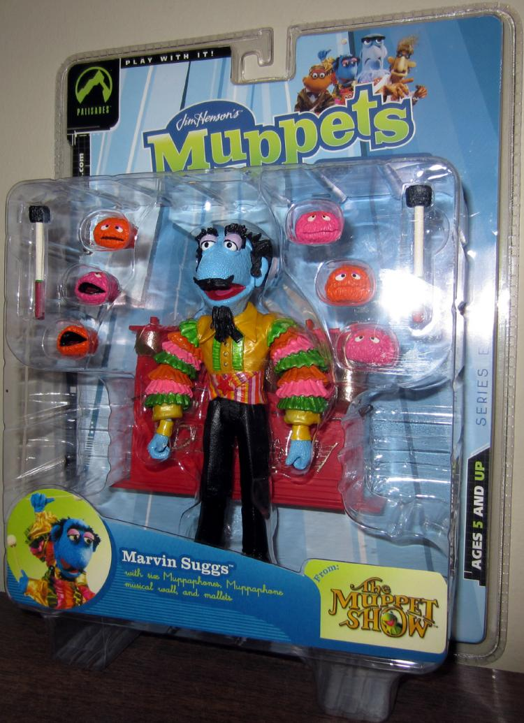 Marvin Suggs Muppet Show Series Eight Multi-Colored Shirt action figure