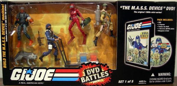 GI JOE DVD Battles MASS DEVICE 1 - 5 action figures