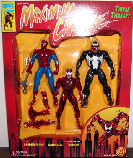 Maximum Carnage Triple Threat Spider-Man action figures