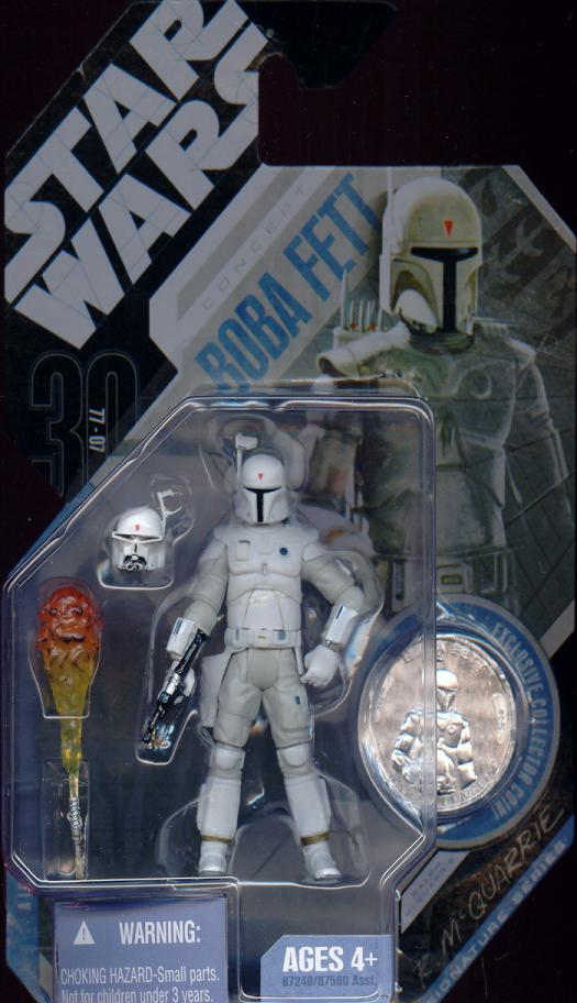McQuarrie Concept Boba Fett 30th Anniversary Star Wars action figure
