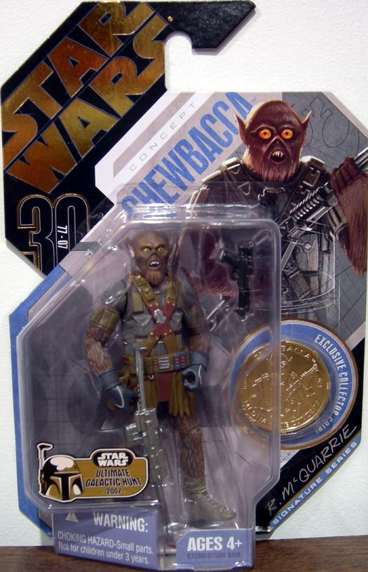 McQuarrie Concept Chewbacca Figure No 21 UGH Star Wars