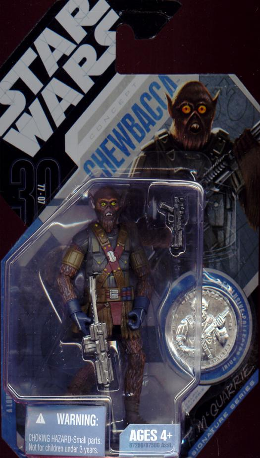 McQuarrie Concept Chewbacca Action Figure Star Wars No 21