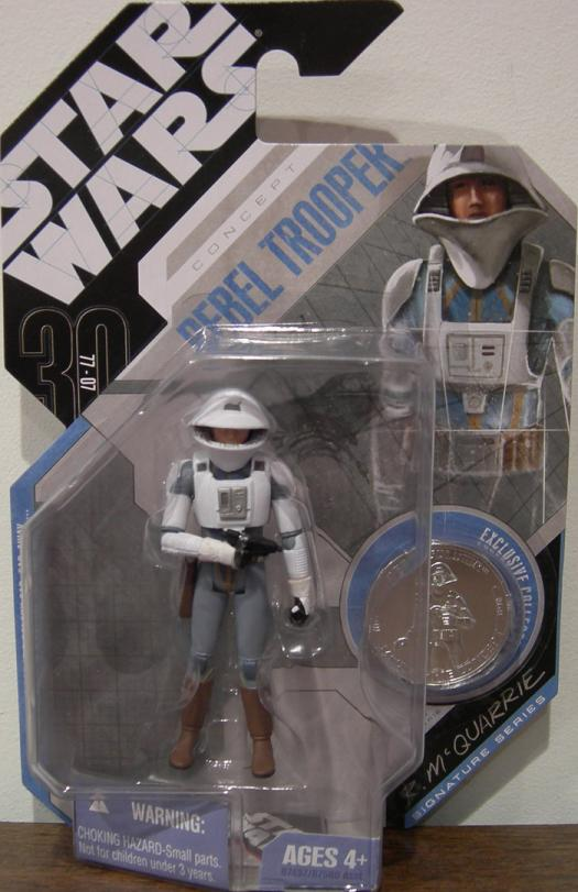 McQuarrie Concept Rebel Trooper Coin Star Wars action figure