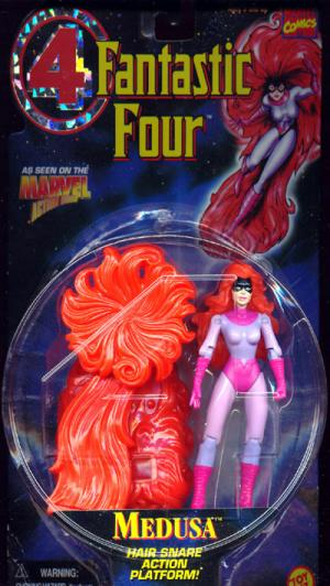 Medusa Figure Hair Snare Action Platform Fantastic 4 Four Toy Biz