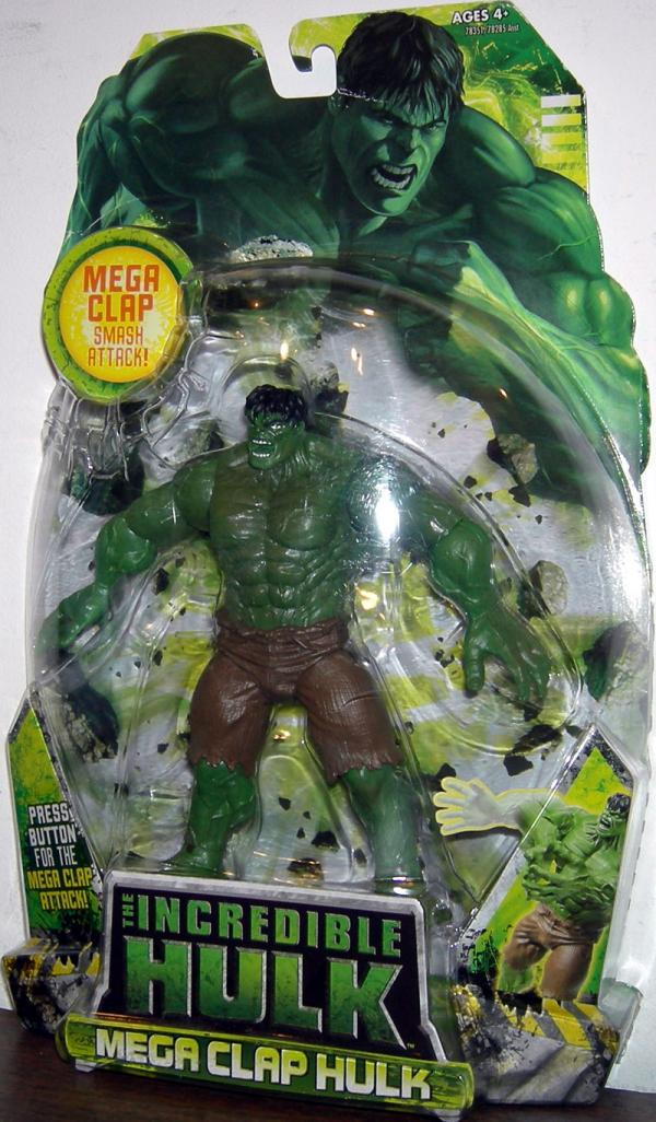 Mega Clap Hulk Figure 2008 Movie Smash Attack