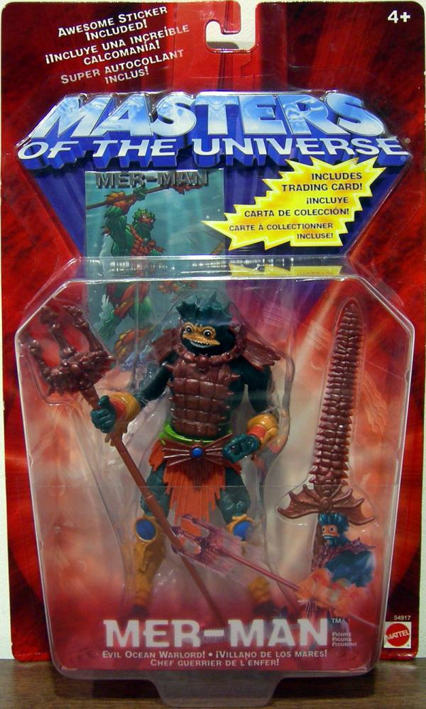 Mer-Man Trading Card Masters Universe action figure