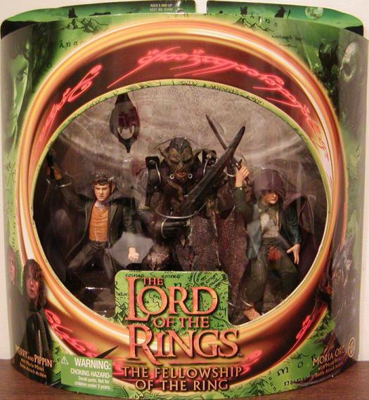 Merry Pippin vs Moria Orc Figures Lord Rings Toy Biz