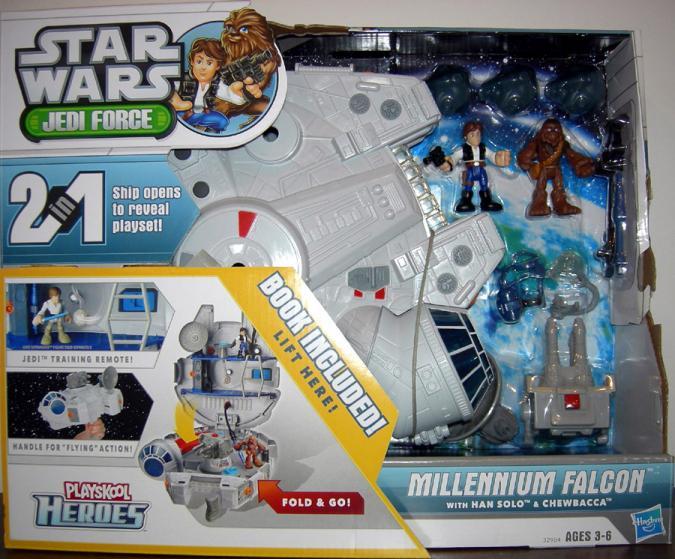 Millennium Falcon Vehicle Han Solo Chewbacca Playskool Heroes