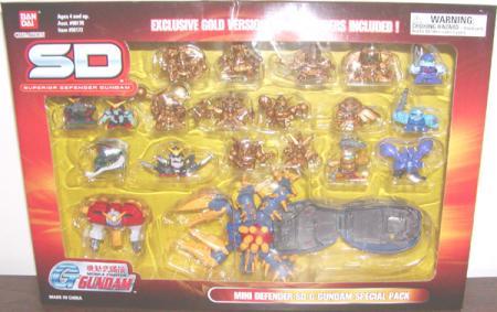 Mini Defender SD G Gundam Special Pack Superior Defender Action Figures