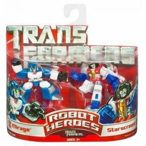 Mirage Starscream Robot Heroes Transformers action figures