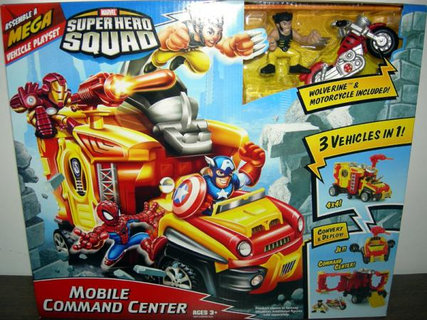Mobile Command Center Super Hero Squad playset action figures
